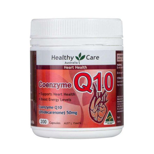 Thuốc Bổ Tim Healthy Care CoEnzyme Q10 50mg 200 viên