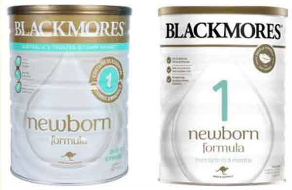 sữa blackmores mẫu mới và cũ