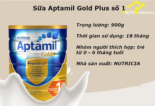 Sữa Aptamil Gold Úc số 1